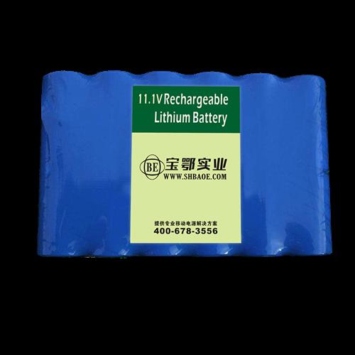 -40℃低温放电,11.1V 2200mAh 18650 自动气象站手持检测设备锂电池