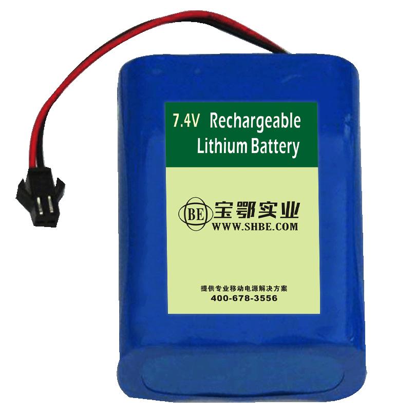 25.2V 5.2Ah 18650 储能锂电池,测控设备三元