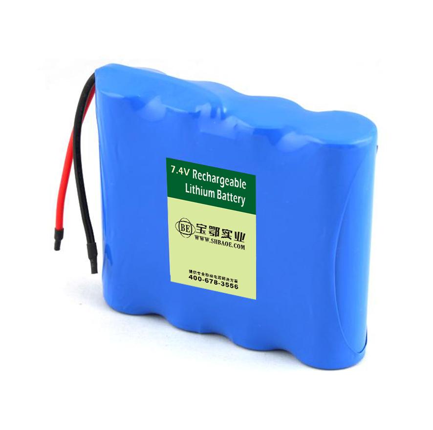 7.4V-5.2AH仪器仪表锂电池组